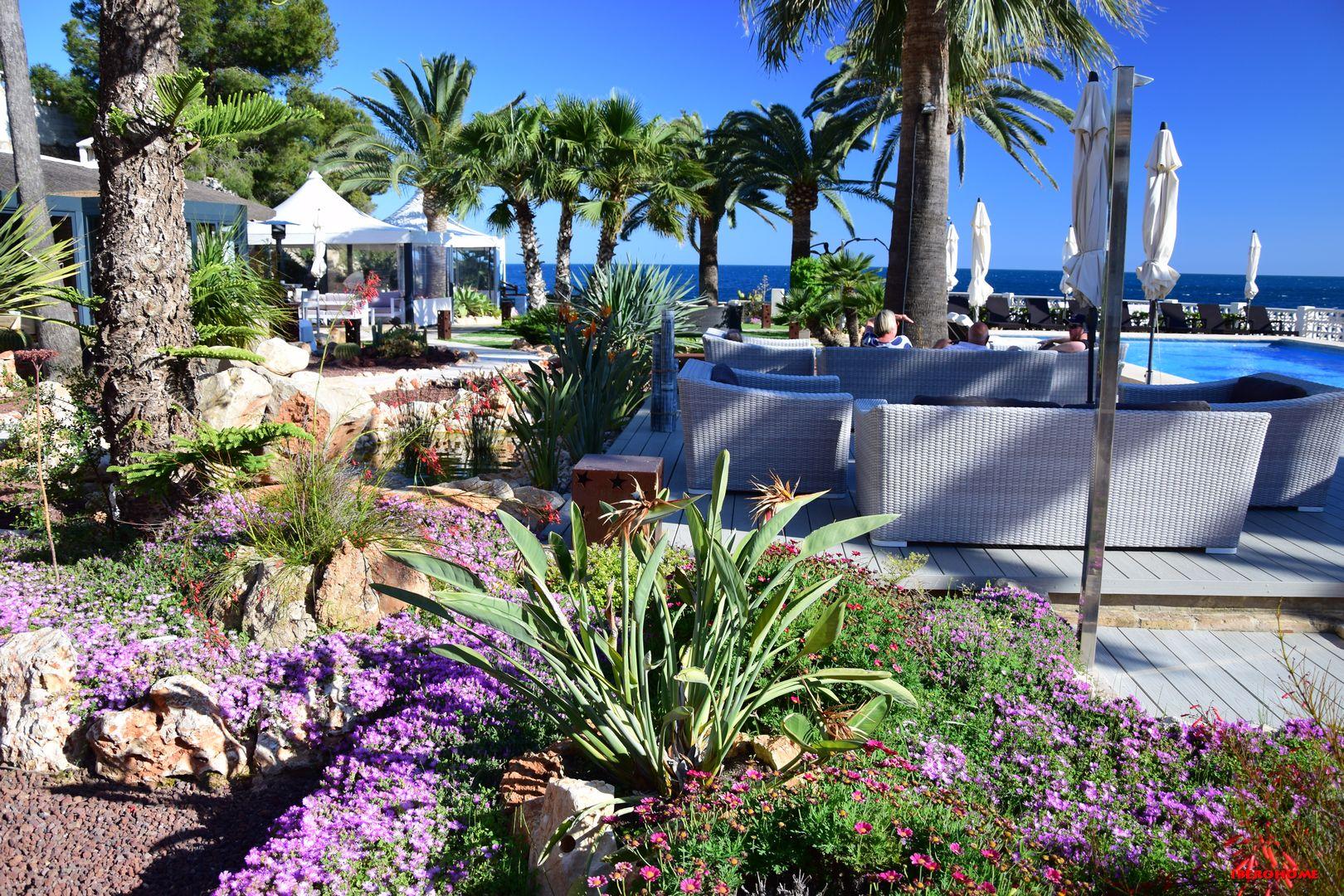 Gartenanlage Restaurant La Paillotte